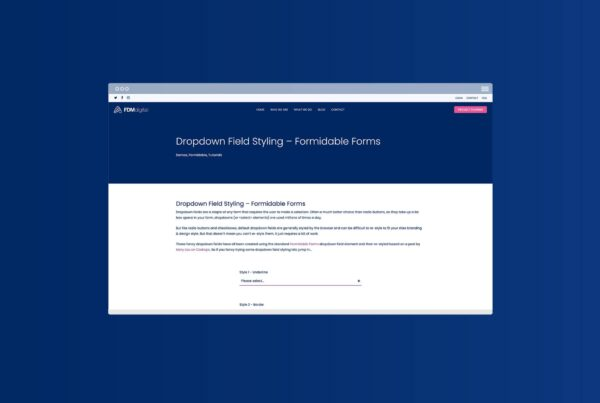 Dropdown Field Styling - Formidable Forms