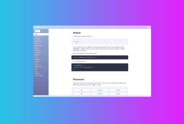 Form Field Tooltips with Tippy.js